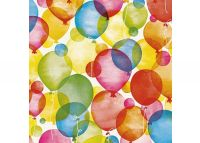 Inpakpapier Basic Kraft Wit WATERCOLOUR BALLOONS